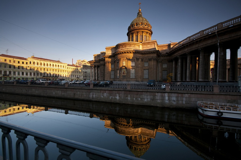 St Petersburg. Kazan Cathedral in the morning<br />