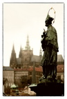 Prague. Statue of John of Nepomuk, Charles Bridge
