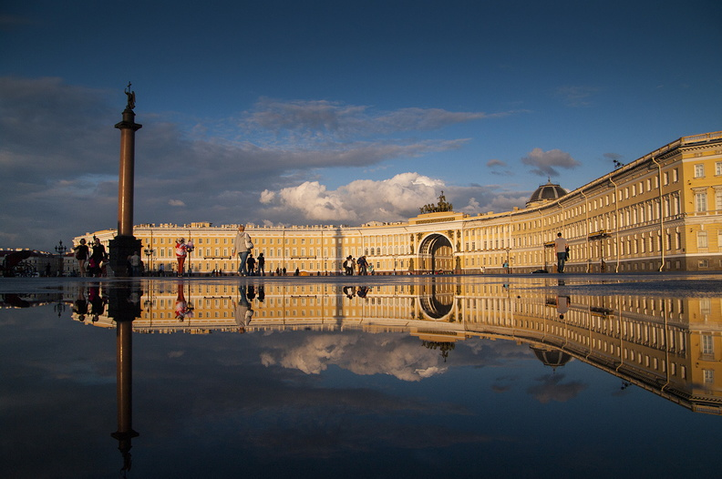 St Petersburg. Palace Square and the General Staff Building <br />