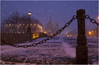 St Petersburg. Snow falls