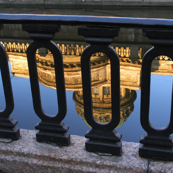 St Petersburg. Reflections of the Kazan Cathedral <br />