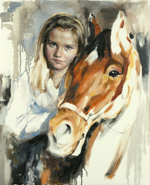 Girl with a Horse.<br />