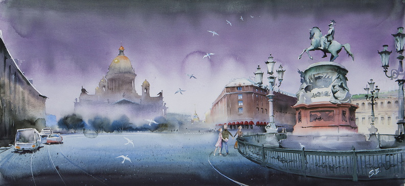 St Petersburg, St Isaac's Square<br />