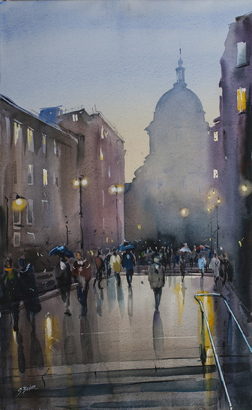 London. St Paul on a Rainy Day<br />