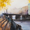 Autumn in the city (Alarchin Bridge, St Petersburg)